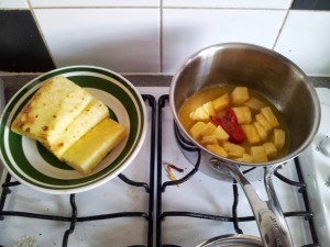 cooking pineapple